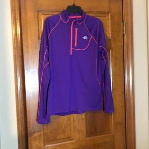 Purple North Fave long sleeve golf shirt